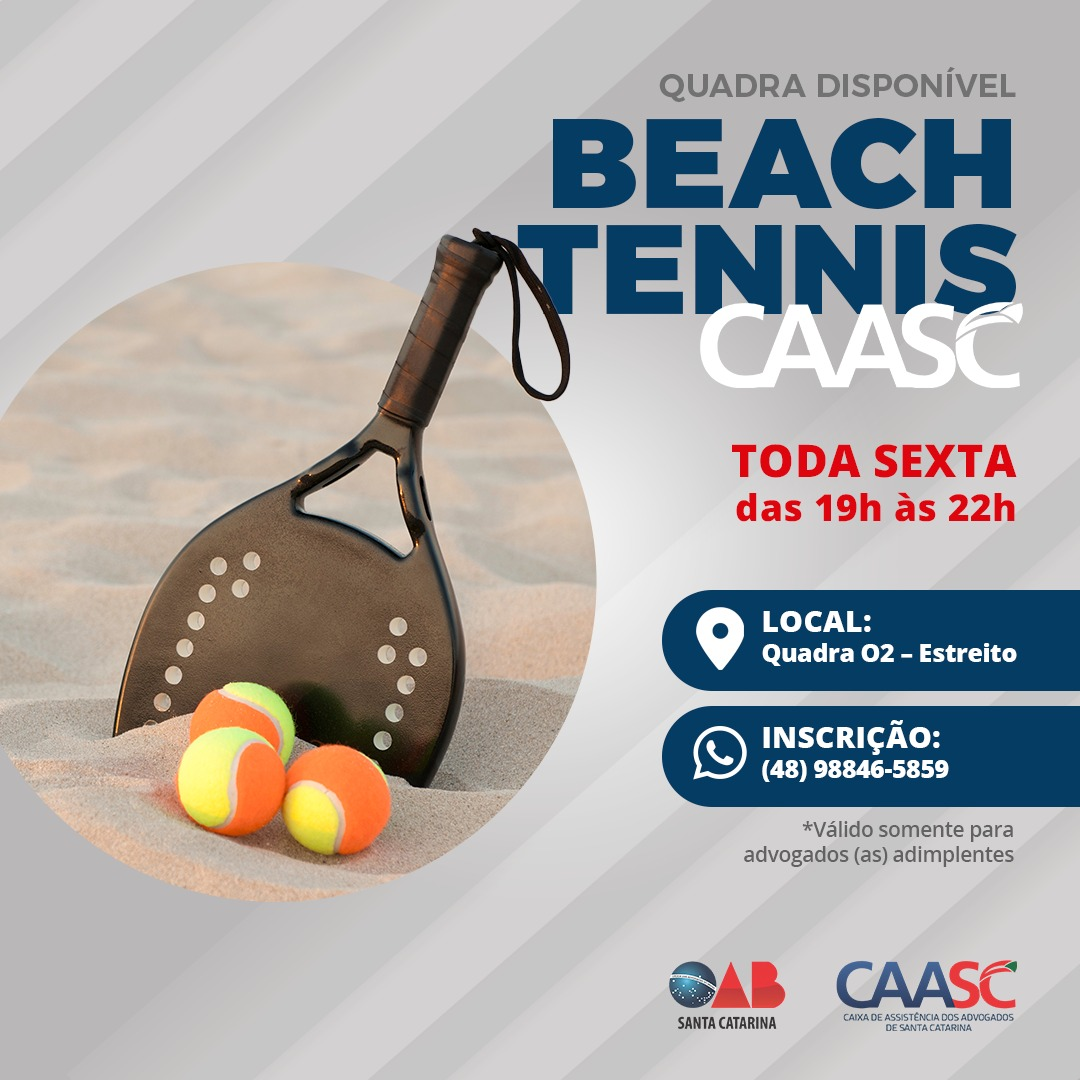 CAASC disponibiliza quadra de beach tennis gratuita